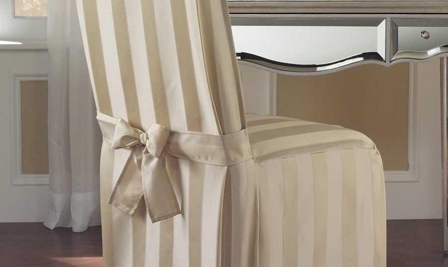 Как сделать чехол на стул: 145 фото полезных советов правильного пошива чехла на стул