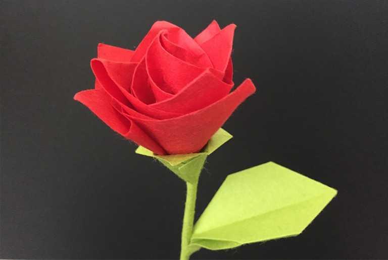Роза в технике оригами — 165 фото и видео мастер-класс изготовления красивой бумажной розы