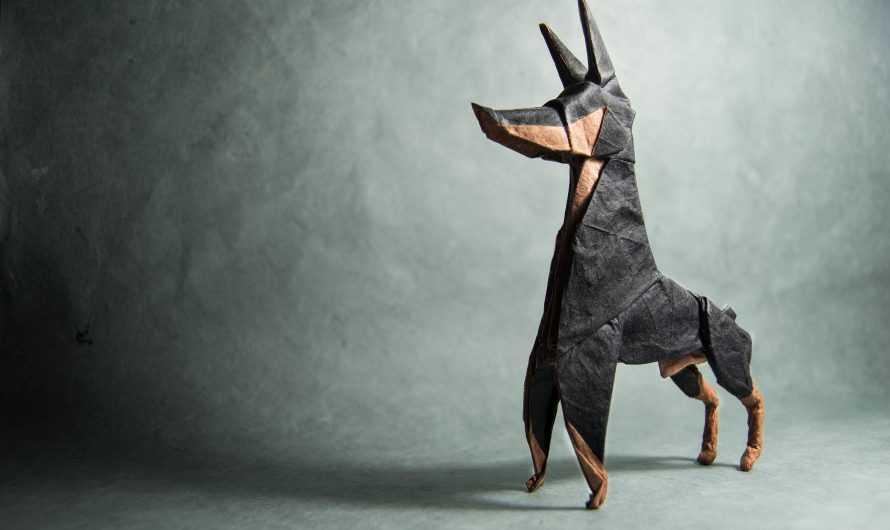 Оригами собака — подробные схемы, разбор нюансов поделок и особенности сборки собаки (185 фото)