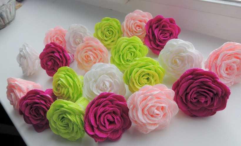 Цветы из гофрированной бумаги: 155 фото способов как своими руками изготовить классные цветы